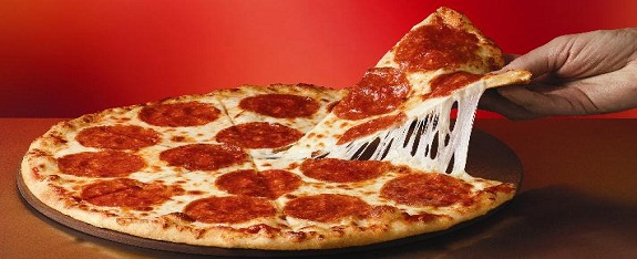 slice de pizza au pepperoni