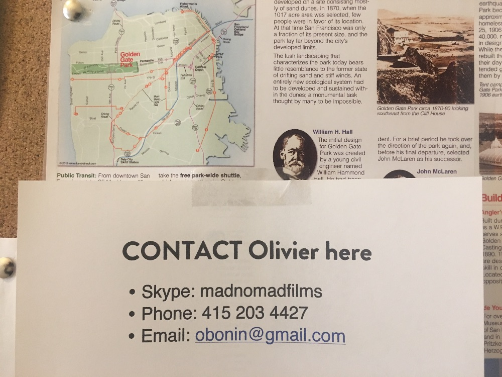 Contact Olivier here